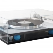 Cloud 9T platform and matching dustcover, shown with the VPI Traveler turntable
