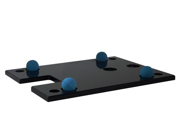 Cloud 9T bottom plate, shown with vibration control balls positioned in the dimples
