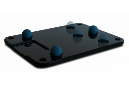 Cloud 9S bottom plate, shown with vibration control balls positioned in the dimples