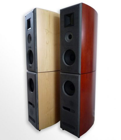 ClaraVu 7 Mk3 speakers in maple and cherry finishes